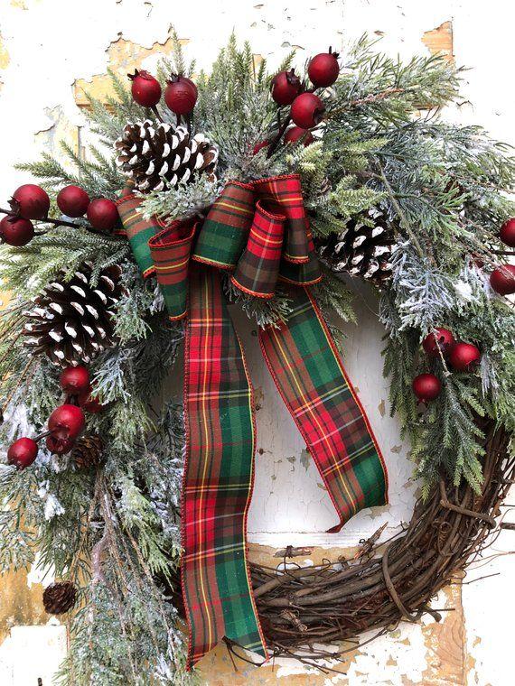 Christmas Wreath, Holiday Wreath, Front Door Wreath