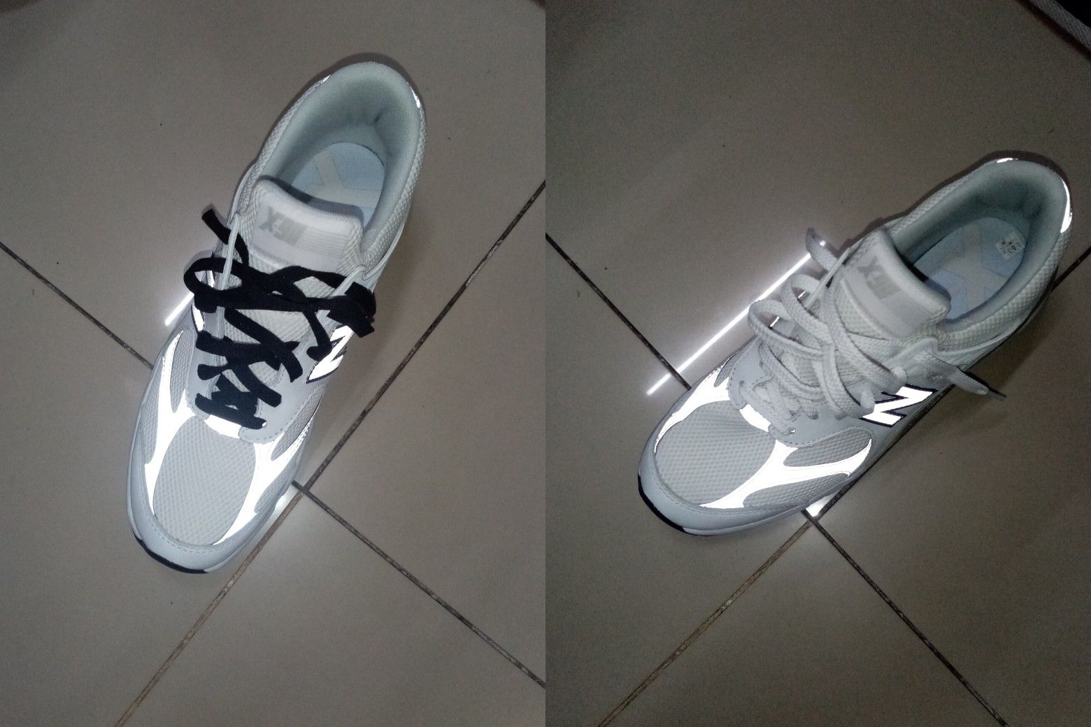 Which one are more the one with the black laces or white