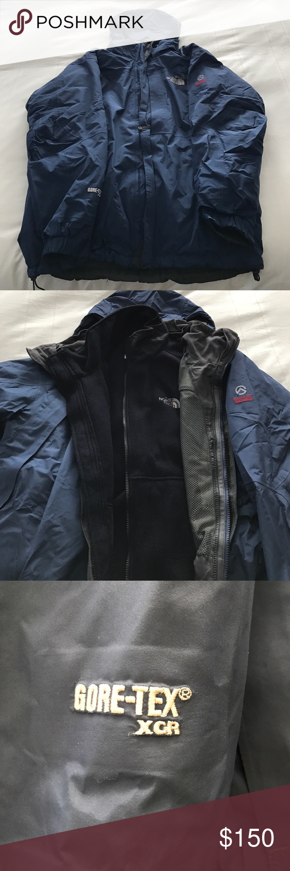 Blue The North Face Summit Series 2 In 1 Jacket Summit Series The North Face Jackets [ 1740 x 580 Pixel ]