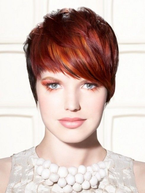 red hair color   hair with caramel highlights dark brown and blonde hairstyles red hair ...