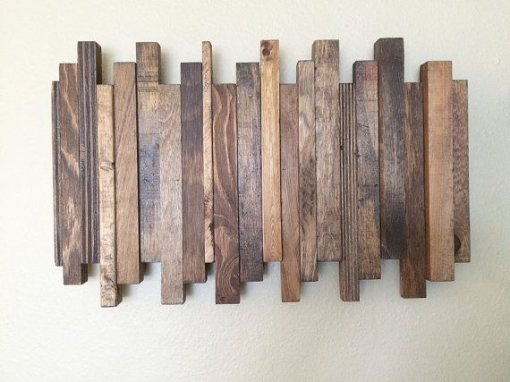 Reclaimed wood wall art reclaimed wood art staggered reclaimed wood art wall decor wall accent home decor reclaimed wood wall art reclaimed wood art