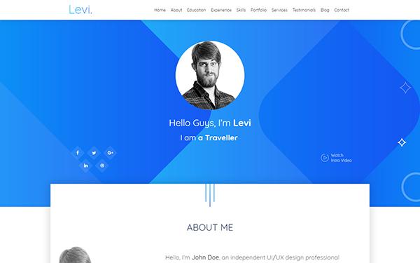 DOWNLOAD - Levi - Bootstrap 4 vCard & Portfolio | Bootstrap Theme