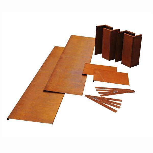 hochbeet k580 als bausatz cortenstahl hochbeete ums manufaktur garten garten hochbeet. Black Bedroom Furniture Sets. Home Design Ideas