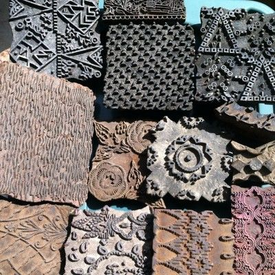 Mix Decorative Wooden Printing Block Indian Wooden Textile Hand Made Stamp 13 Pc