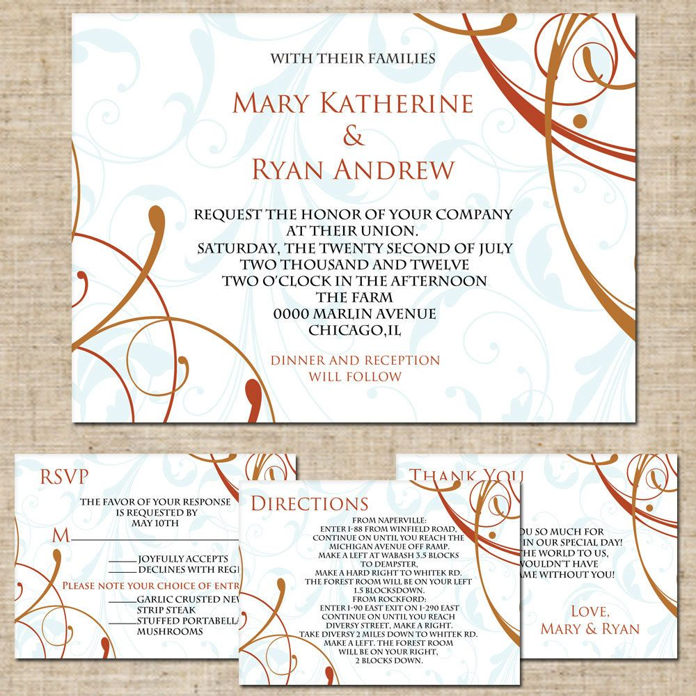 Invitation wording, directions card | Mary & Devin\'s Big Day ...