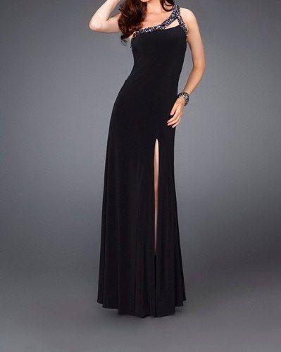 2160de292 Vestido Negro Bordado Para Fiesta O Recepción -   650