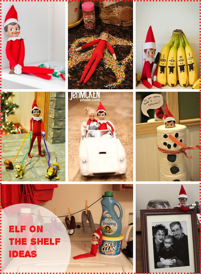 Fun Elf on the shelf ideas (with pictures | Shelf ideas, Elves and