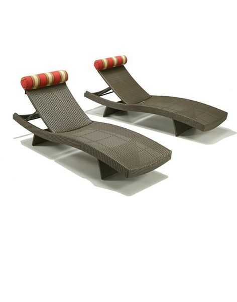 Vinyl Outdoor Chaise Lounge Chairs