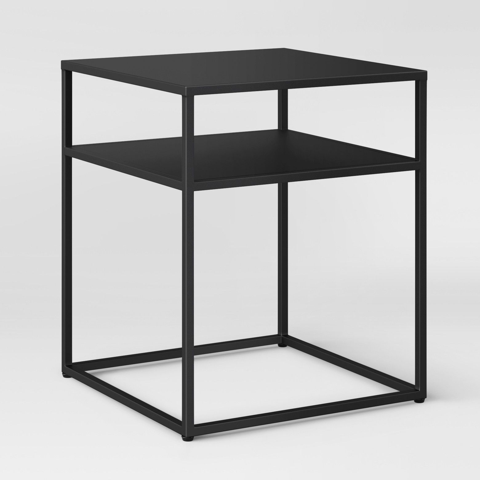 Bring Clean Lines And Modern Style Into Your Space With The Metal End Table From Project 62 Metal End Tables Black End Tables Square Coffee Tables Living Room
