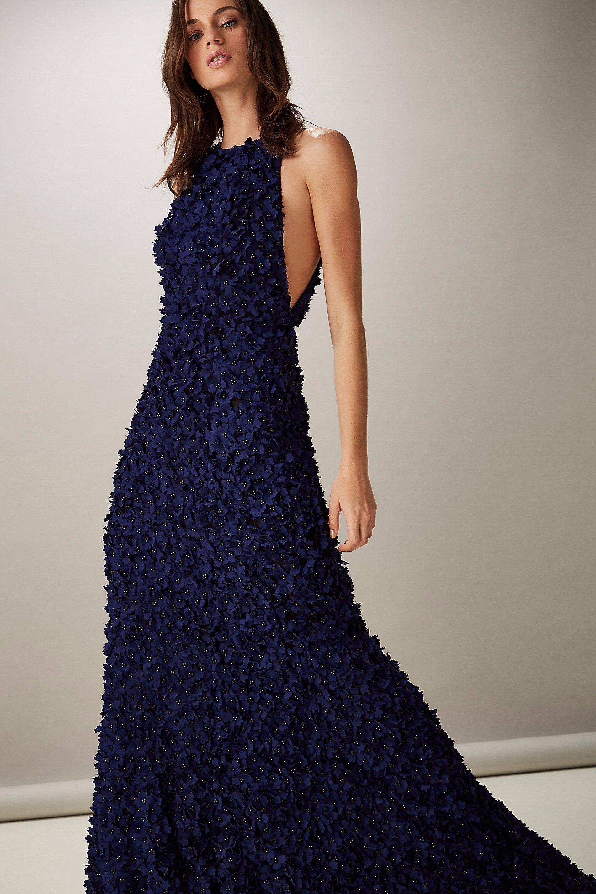 5fdbfcdeb VESTIDO LONGO FLORES 3D. | ANIMALE | Long Dresses | Formal dresses ...