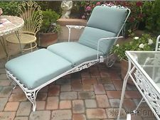 50 S Vintage Iron Chaise Lounge Chair Patio Perfect Vintage