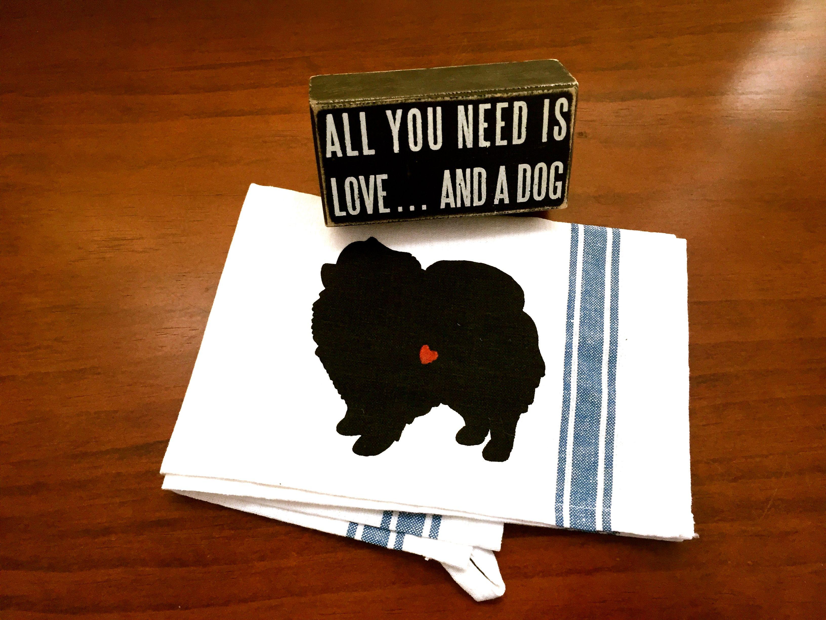 Pomeranian Tea Towel Kitchen Dish Cloth Decor % to ANIMAL RESCUE ECO