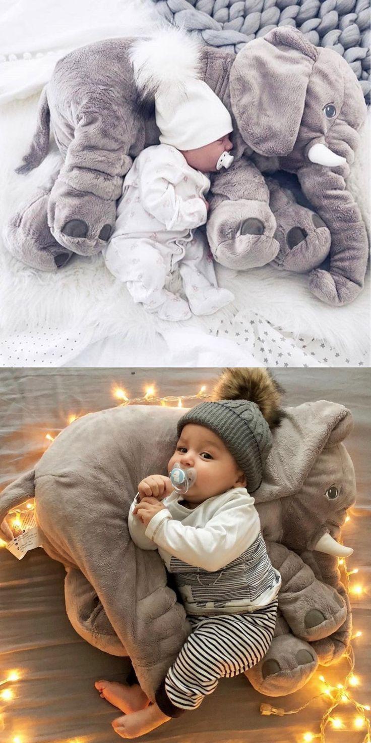 Plush Elephant Pillow Toy | Fotografie detí, Bábätká a Bábätko