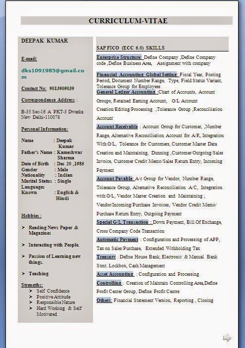 canadian resume samples sample template example ofbeautiful sap fico resume sample