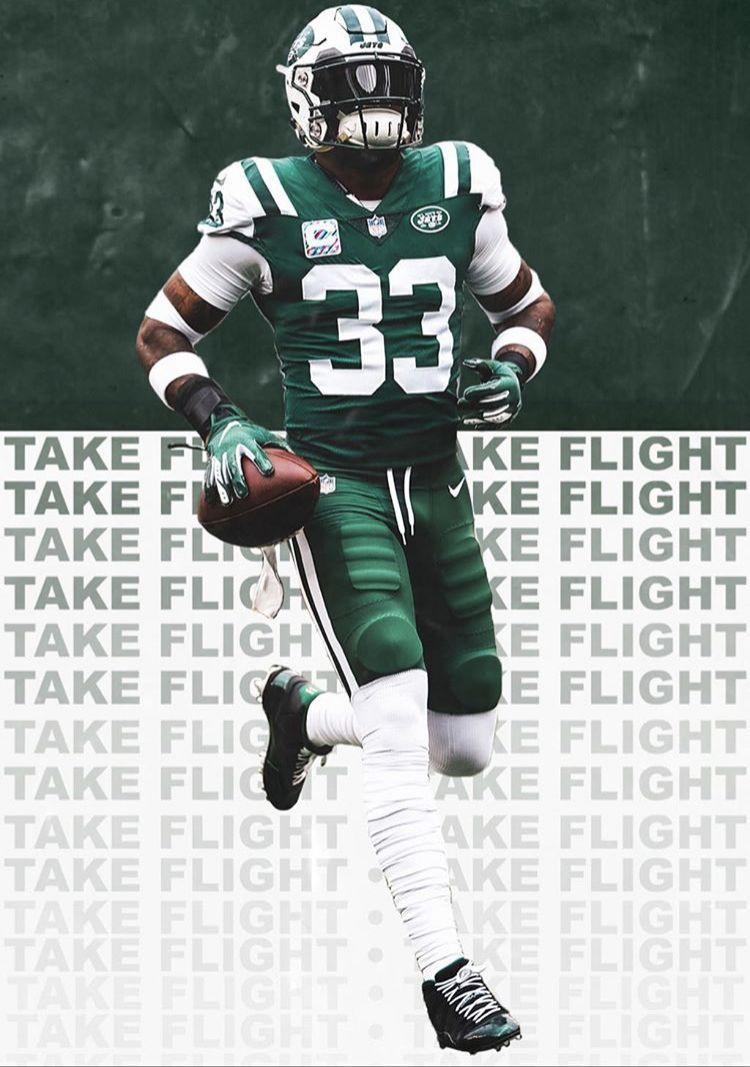 Jamal Adams Jets Football Sports Graphic Design Football Wallpaper