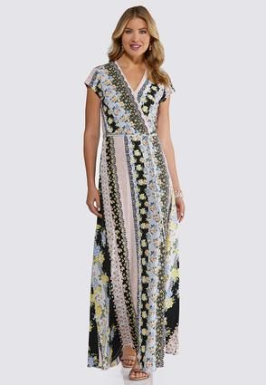 cc2f84b2461 Plus Size Floral Stripe Maxi Dress Maxi Cato Fashions in 2019