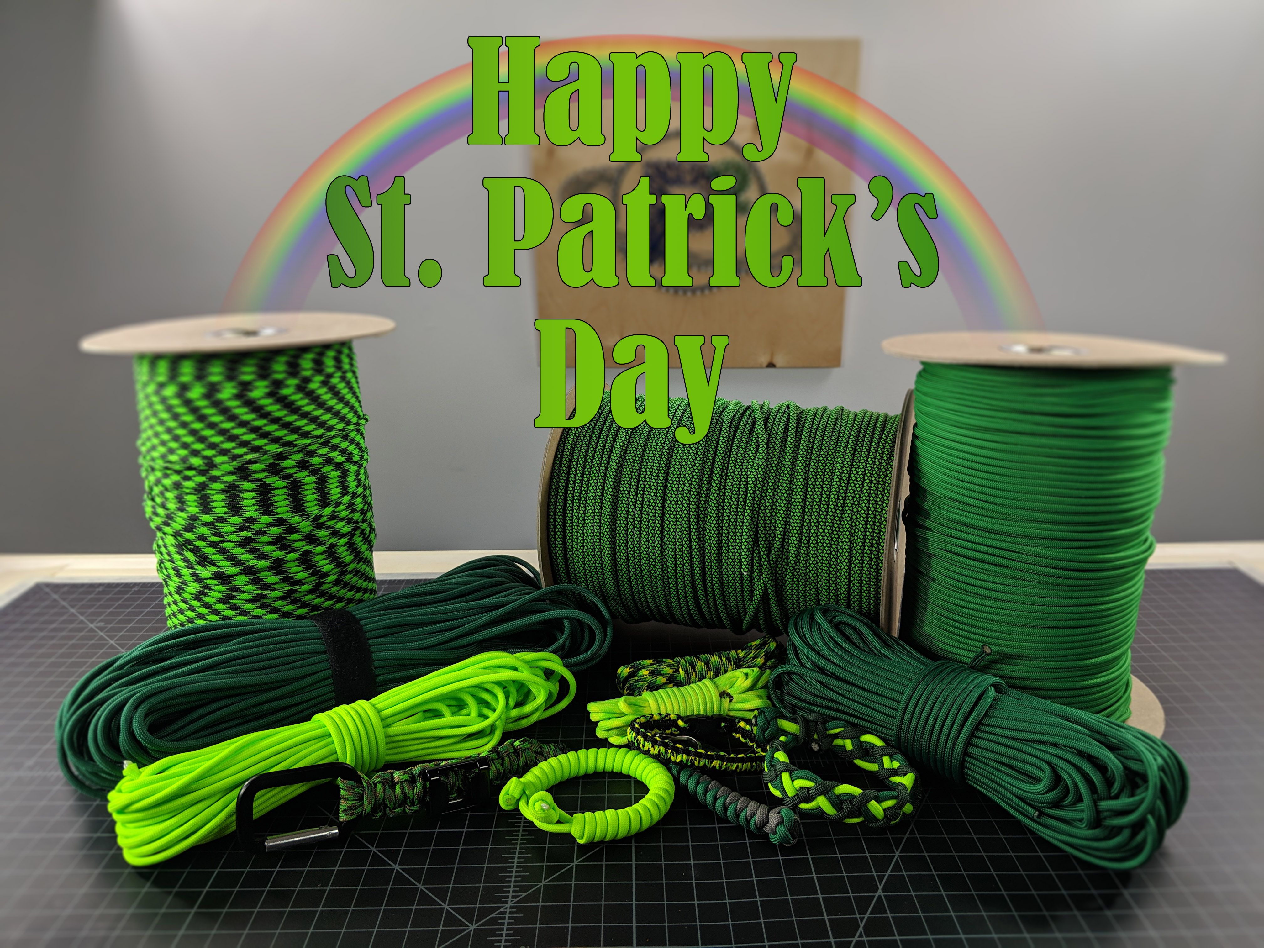 Happy St Patrick S Day Paracord Tutorial Happy St Patricks Day Color Chart