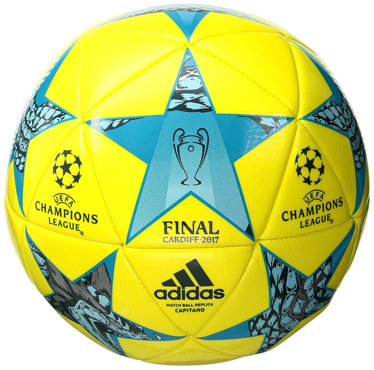 cuero Considerar Engreído  Amazon.com : adidas Performance Champions League Finale Capitano Soccer  Ball : Sports & Outdoors Color:Bright Yellow/Cle… | Soccer, Soccer ball,  Sports team banners