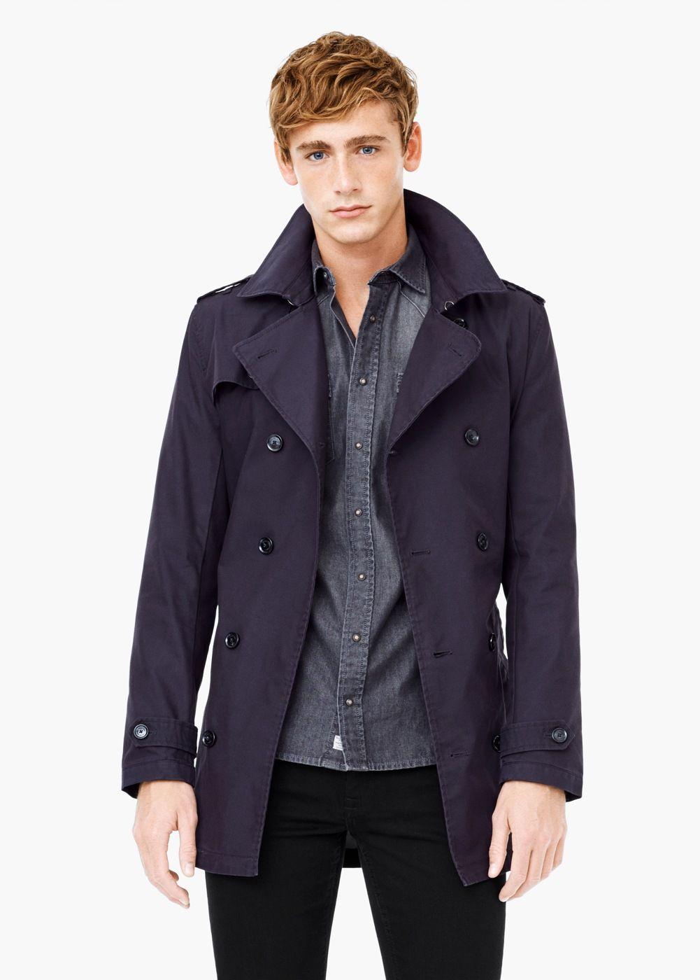 03a4d12695 Classic cotton trench coat - Men