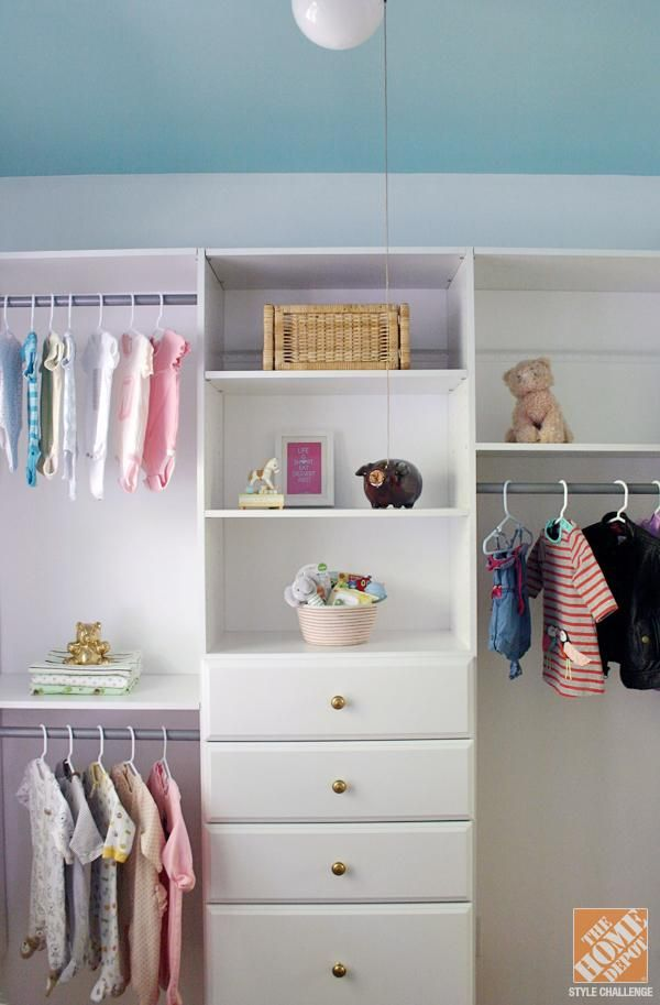 Closet Organization Ideas For A Nursery The Home Depot Storage