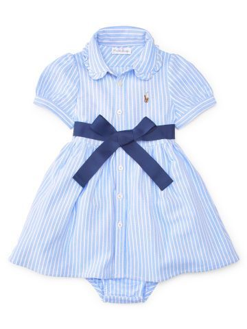 Baby Girl Cotton Shirtdress Bloomer Baby Girl Dresses Rompers