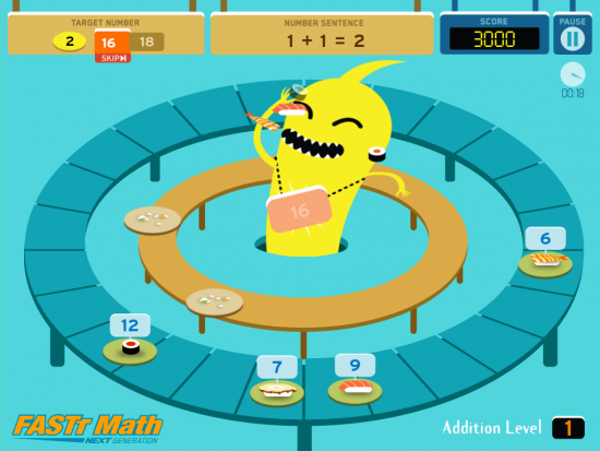 Sushi Monster A Fun Math App For A Child S Ipad