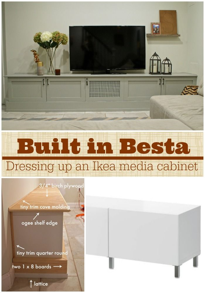 Best Ikea Hacking A Besta Media Center Into A Custom Diy Built 400 x 300