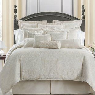 Ivory Cream King Size Comforter Sets You Ll Love Wayfair Comforter Sets Waterford Bedding Luxury Bedding
