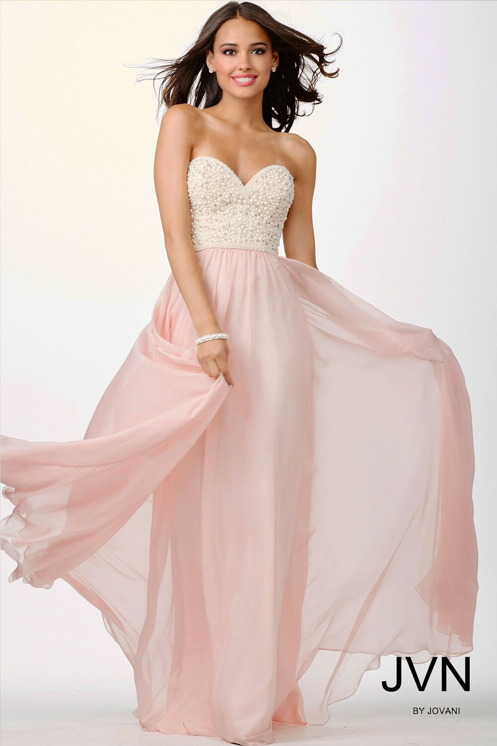 Sweetheart Pearl Top and Blush Pink Dress JVN21224 | shopify ...