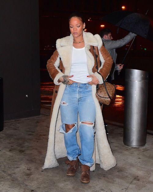 January 17: Rihanna arriving at JFK Airport in New York.