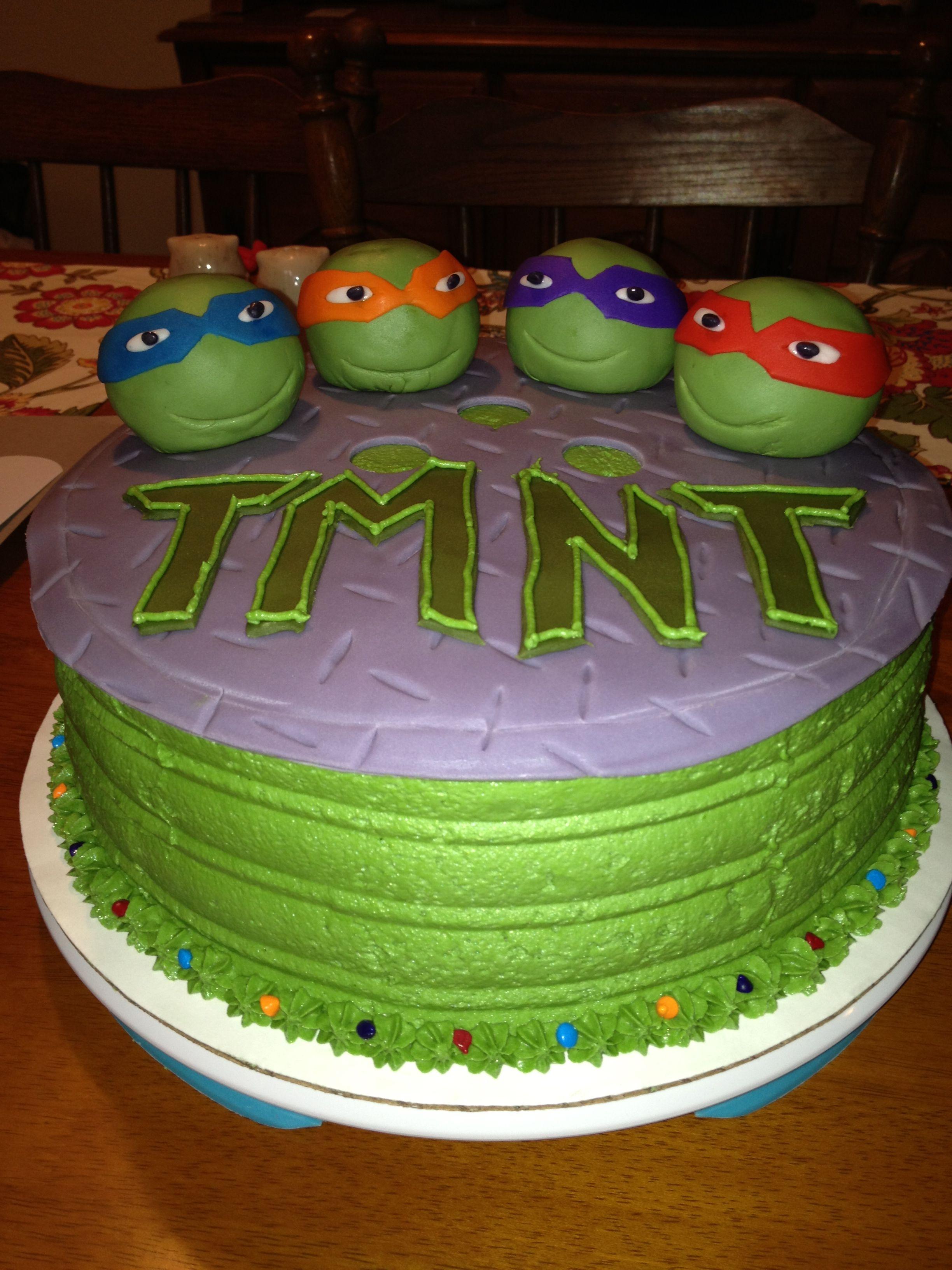 Fabulous Tmnt Teenage Mutant Ninja Turtle Cake Birthday Cake Boy Cake With Personalised Birthday Cards Petedlily Jamesorg