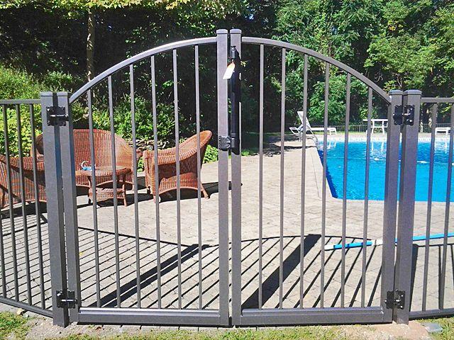 2 Rail Aluminum Pool Fence Poort