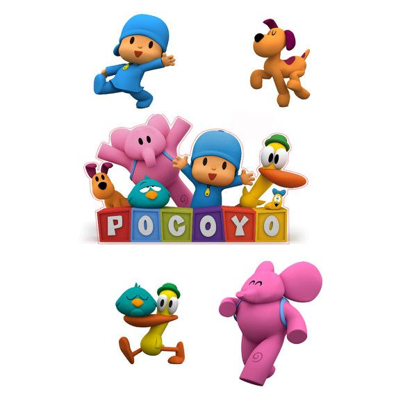 Pocoyo Logo and 4 Piece Set of Removable Wall Stickers with Pocoyo Elly Loula and Pato | Pocoyo  sc 1 st  Pinterest & Pocoyo Logo and 4 Piece Set of Removable Wall Stickers with Pocoyo ...