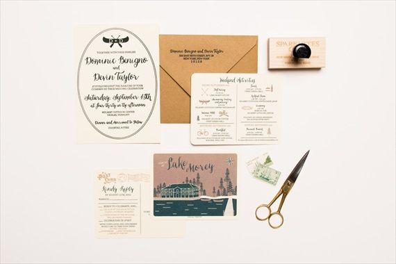 Camping Wedding Invitation in Letterpress. Sparkvites.com