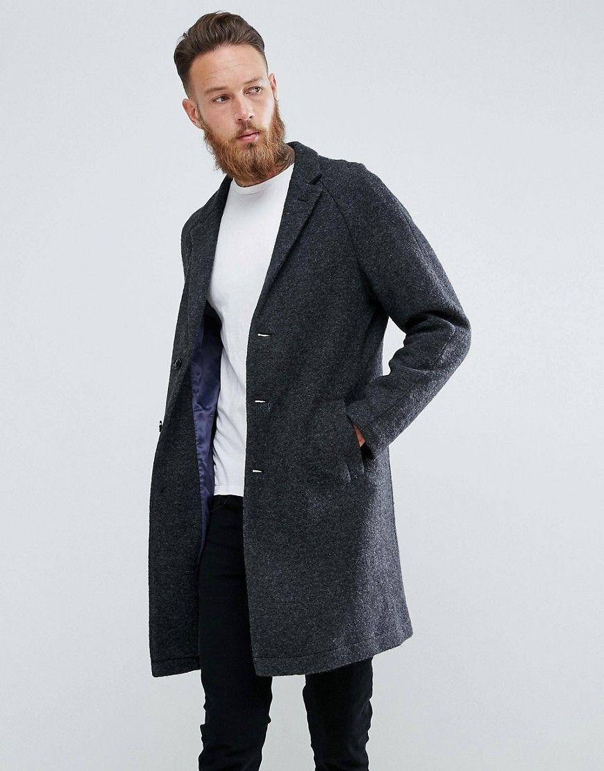 Mango Man Wool Overcoat In Gray - Gray | Mens wool overcoat, Mens wool coats,  Wool overcoat