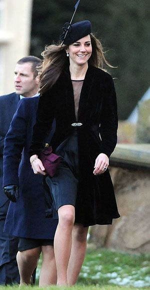 17d6f76f4fff Duchess Catherine in Libelula black velvet dress coat and black sheer Issa  dress at the wedding of Harry Aubrey-Fletcher   Sarah Louise Stourton at  St. ...
