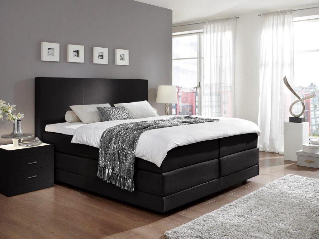 Schlafzimmer mit boxspringbett, Schlafzimmer