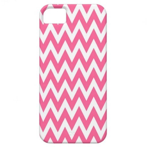 Modern and trendy iPhone 5 phone case with beautiful pink zigzag chevron stripe pattern. Cute and unique design and a perfect cool gift idea for her / him or anyone on any occasion