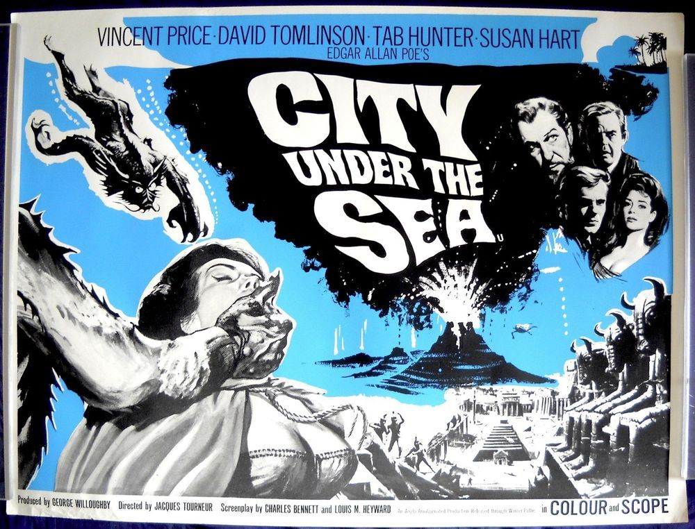 CITY UNDER THE SEA MOVIE POSTER! British Quad War-Gods of the Deep ...