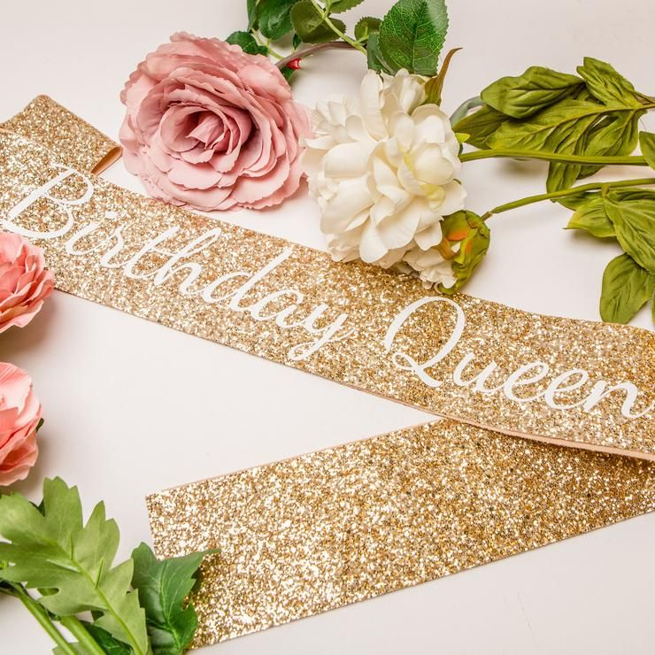 Gold Birthday Queen Sash - Adult Birthday Party #21stbirthdaysash