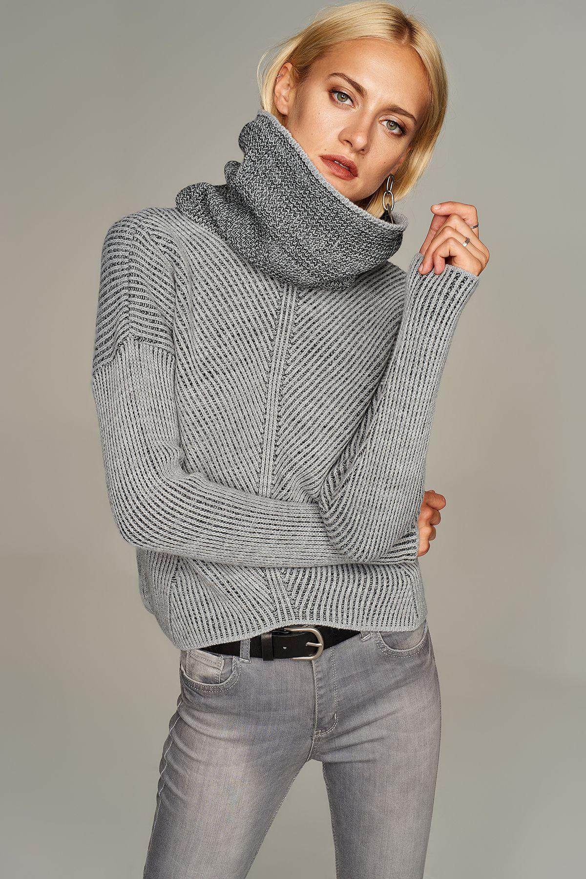 Antrasit Bogazli Kadin Kazak Trendyolmilla Trendyol Moda Stilleri Trendler Kadin