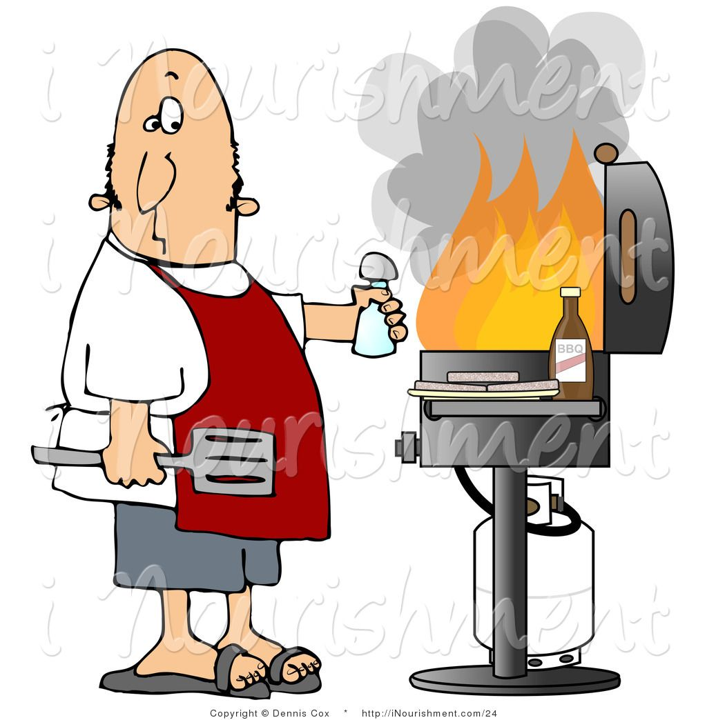free clipart man grilling - photo #20