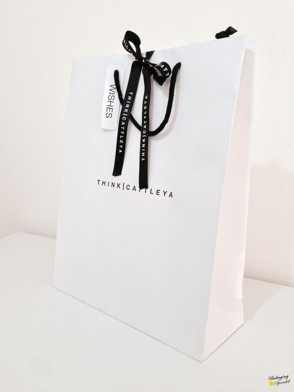 Design packaging packaging specialist packaging - Luxury Paper Bag W Custom Ribbon By Pkgsp Packaging Specialist