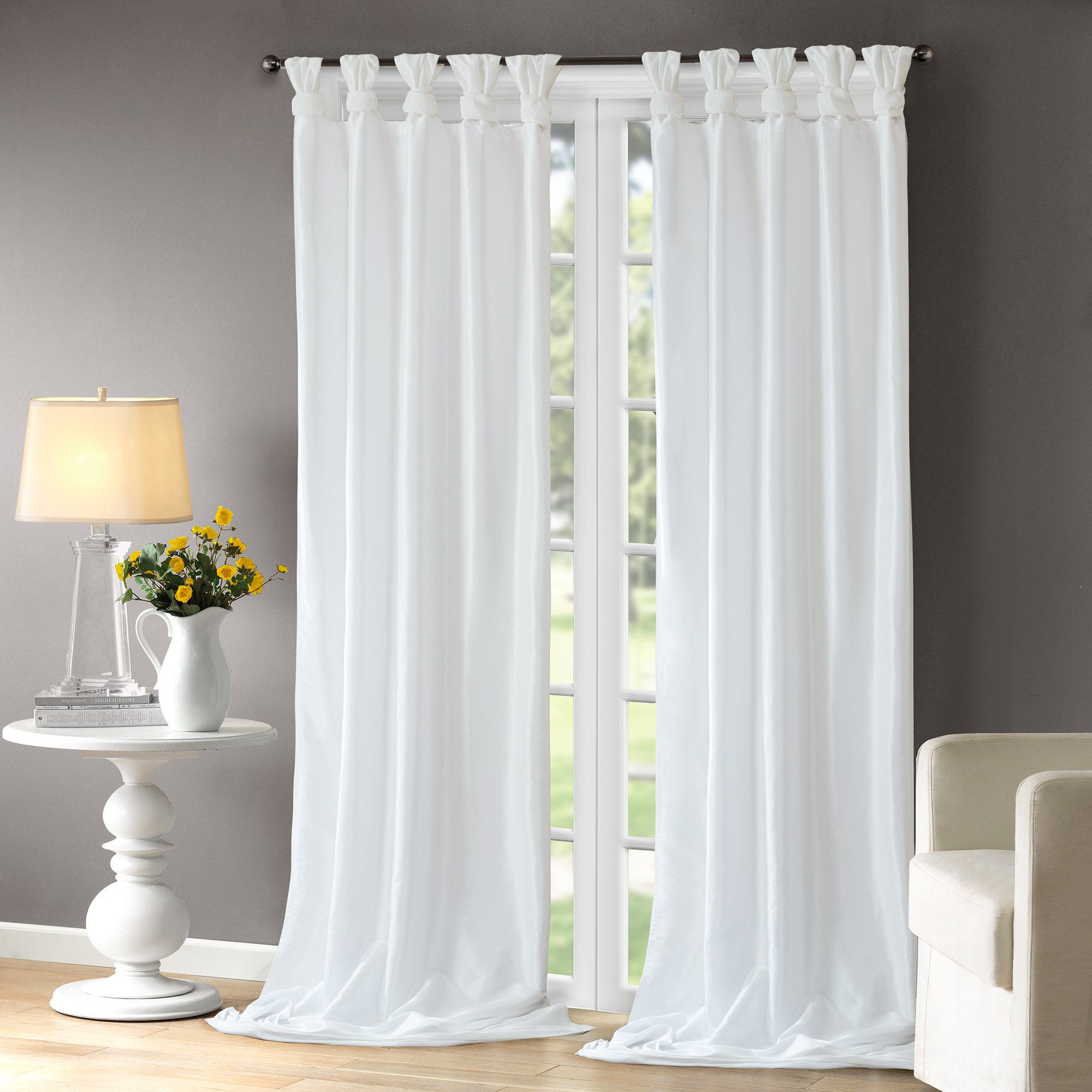 Rivau Solid Tab Top Single Curtain Panel