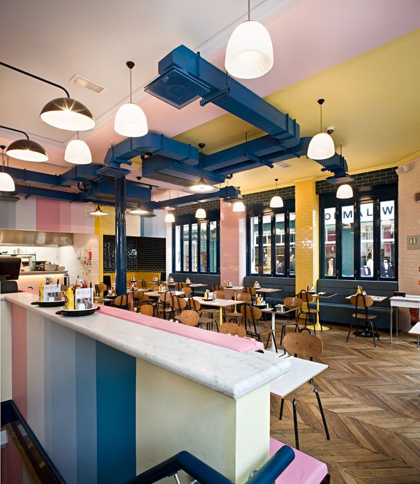 Bryon Burger (Charing Cross) Like Painted Ductwork