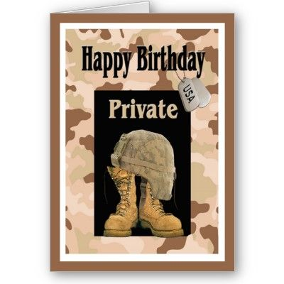Military Army Private Birthday Card Cards Pinterest Cards
