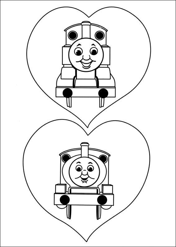 - Coloring Page Thomas The Train - Thomas The Train Train Coloring Pages,  Valentine Coloring Pages, Cool Coloring Pages