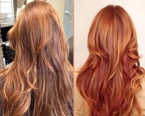 Light Brown Hair Style: Red Hair With Copper Highlights - Google Search