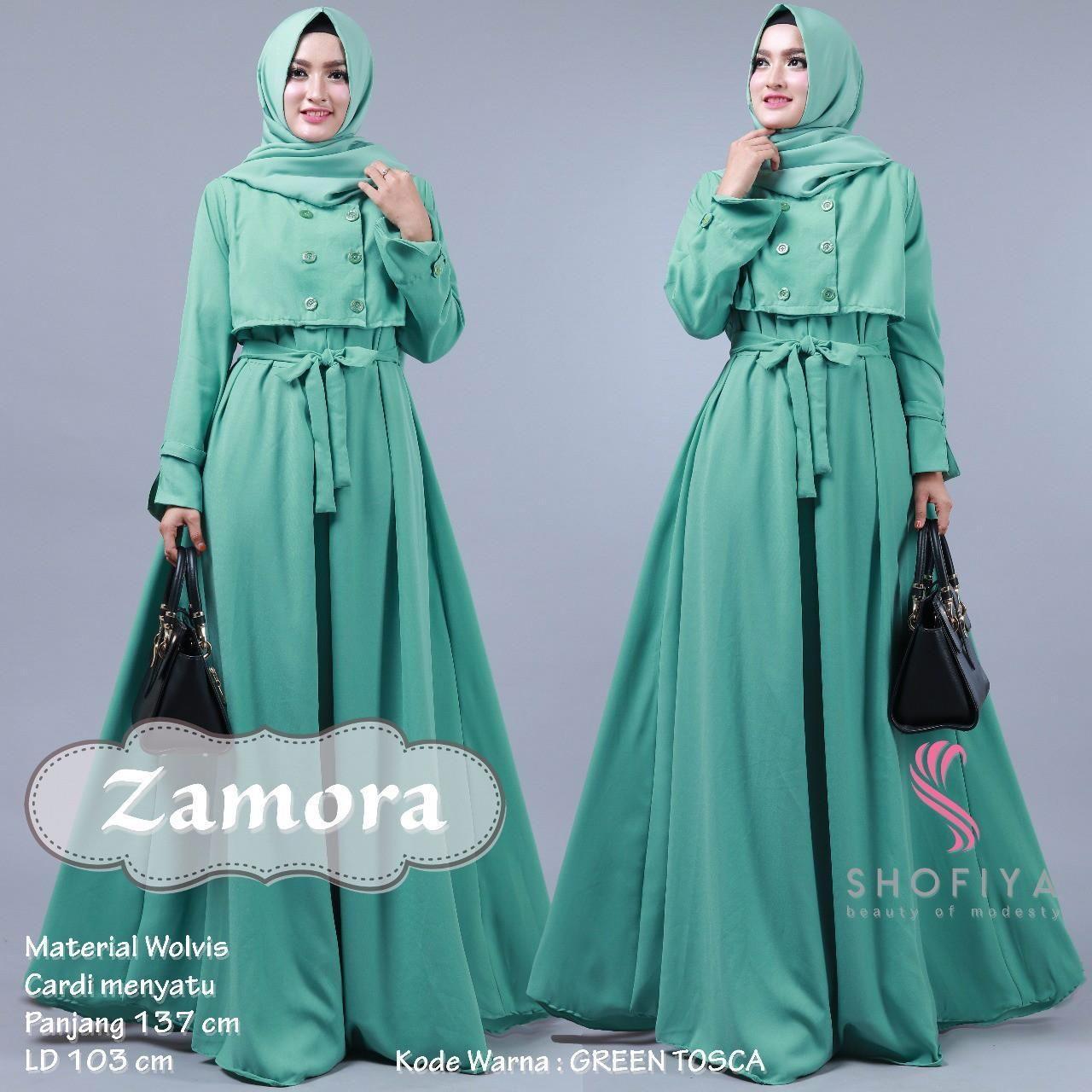 Model Baju Gamis Batik Warna Hijau Tosca  Model pakaian hijab
