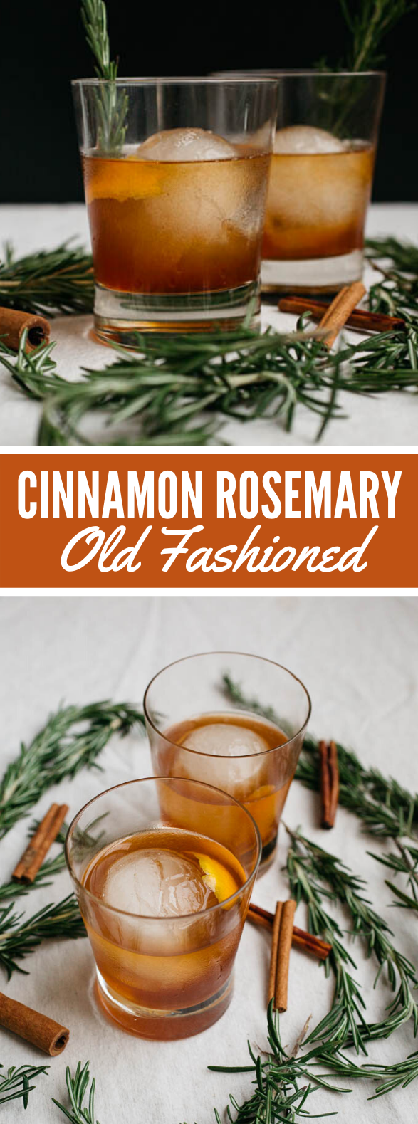 CINNAMON ROSEMARY OLD FASHIONED #drinks #cocktails